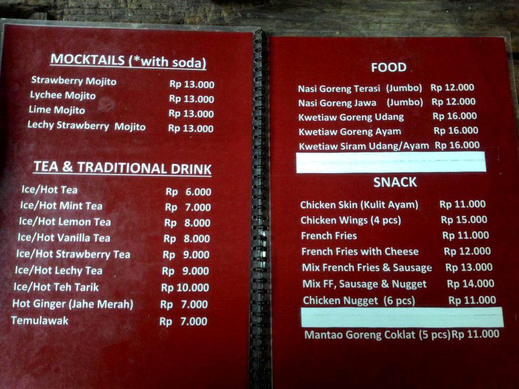 Loemientoe menu