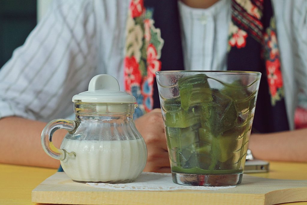 gaco's cafe and dessert catering malang -Ice Cube Matcha-
