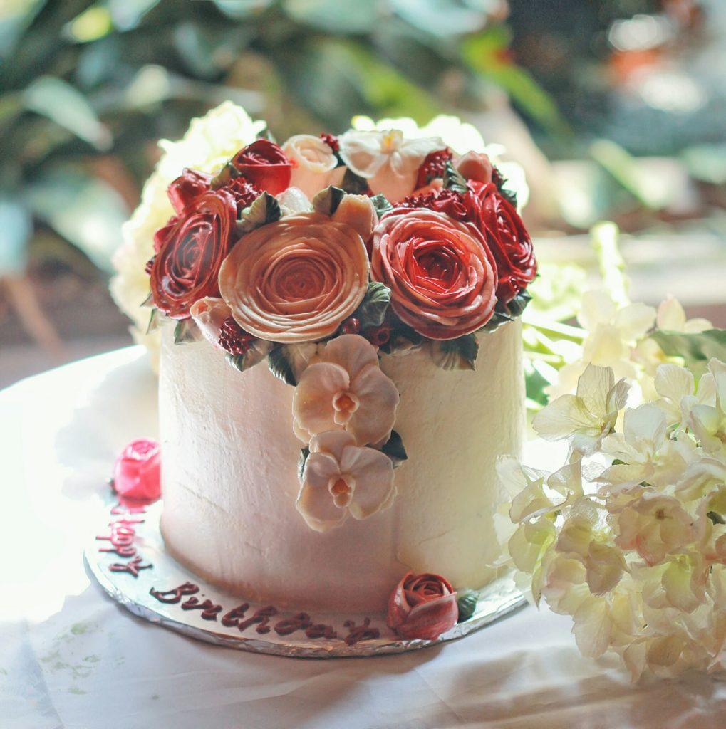 Korean Flowers 3D Tart Rose