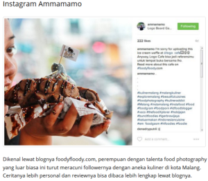 ammamamo foodyfloody featured on Planet Merdeka.com