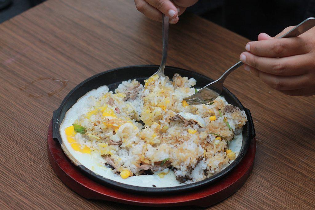 Beef Rice Lada Hitam saat di Mix