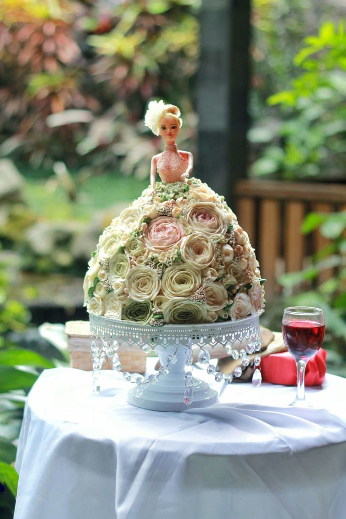 Korean Flowers 3D Tart Barbie