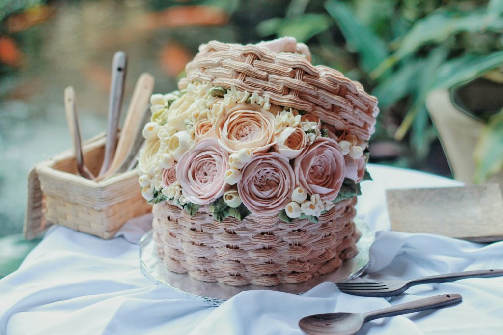 Korean Flowers 3D Tart Bucket