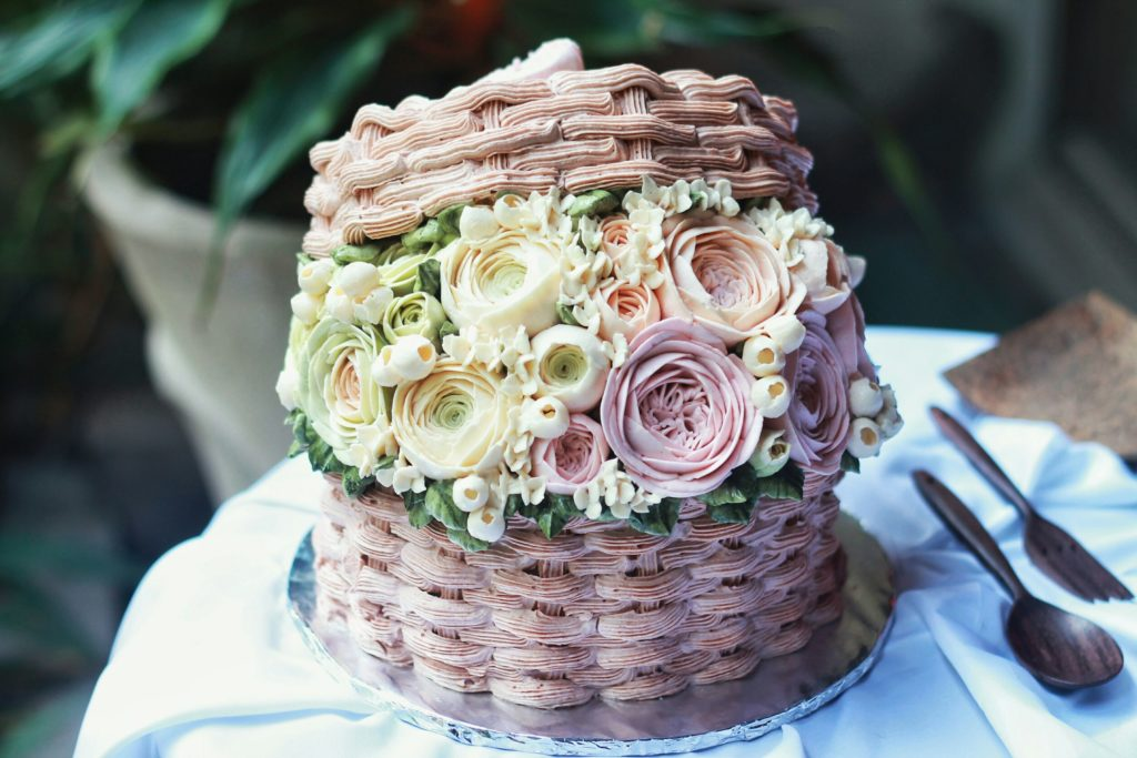 Korean Flowers 3D Tart Bucket 2