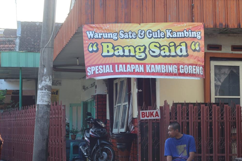 Lalapan Kambing Bang Said Malang